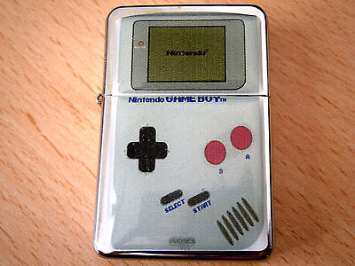Nintendo Game Boy Star Cigarette Lighter & Extra Zippo Flints Video Vintage
