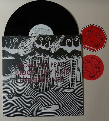 "ATOMS FOR PEACE Judge Jury and Executioner VINYL 12"" Vinyl & Radiohead Stickers"