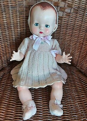 "19"" Pedigree baby doll moulded hair c1950's - beautiful doll"
