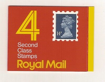 GB2 4 x 14p Barcode Booklet Cyl Num Code O Ref 14648