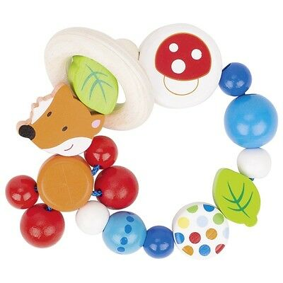 HEIMESS WOODEN Touch Ring FOX Baby Toy Teether Wood Rattle 764290