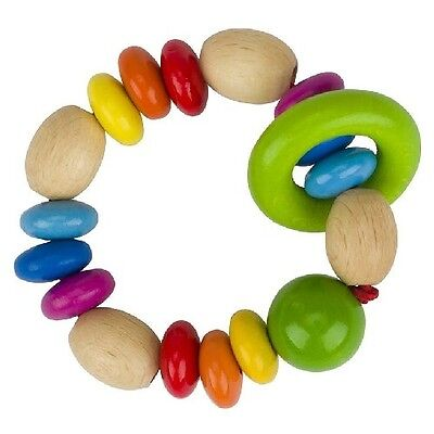 New Heimess Rainbow Lenses Touch Ring Baby Rattle 737320 Wooden Toy