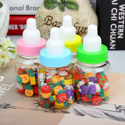 Super Cute Mix Style Eraser Rubber Feeding Bottle Stationery Kid Toy Gift FV
