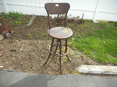 Unique Vtg Antique Telephone Switchboard Operator's Base Seat Swivel Chair Stool