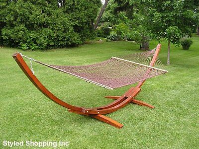 Extra Large Deluxe 2 Person Brown Rope Hammock Extra Soft Poly Rope Only
