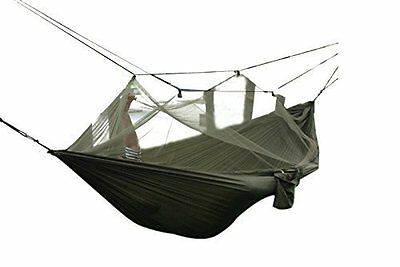 FOME Portable High Strength Parachute Fabric Hammock Hanging Bed With Mosquito x