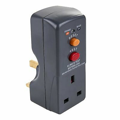 Masterplug Safety RCD Plug In Circuit Breaker Garden Power Tools Trip Switch mp