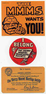 Merry Marvel Marching Society Repro 1964 Welcome Kit . Marvel Comics Not Dvd