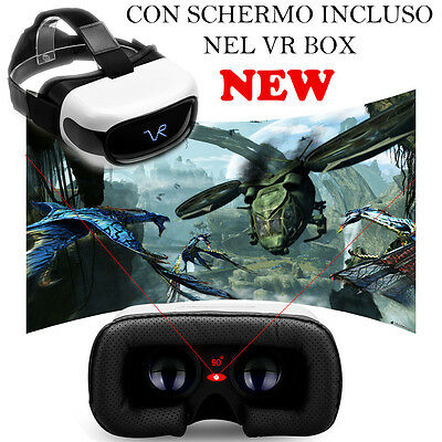 Vr Box Wifi Realta Virtuale Occhiali 3D Bluetooth Cinema Video Game Hd Virtual