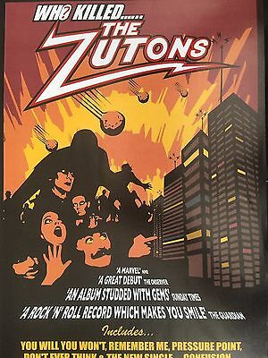 """THE ZUTONS # WHO KILLED.... # 2005 ALBUM RELEASE ADVERT # 12"""" x 8"""""""