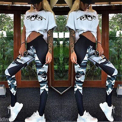 Women's Yoga Leggings Fitness Gym Trousers Sports Running Pants Stretch Workout
