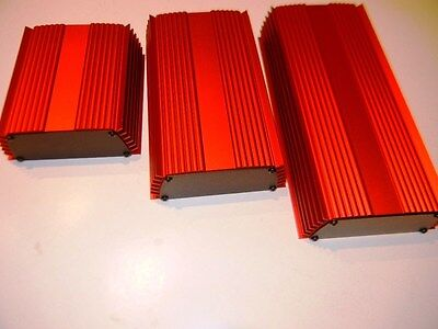 "Aluminum Project box, Enclosure 5"" X 5"" X 2""  GK5-5 Red,"