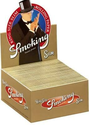 100 Cartine Smoking Gold Oro Slim King Size 100 Pz Libretti 2 Box Cartine