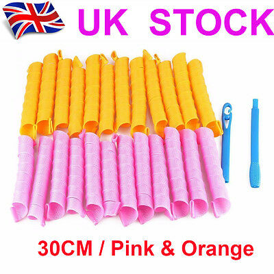 30CM Magic Circle Hair Rollers Curlers Twist Spiral Styling Curlformers Tool Set