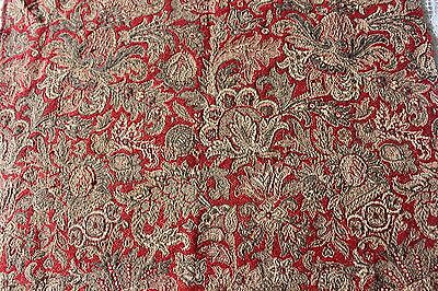 Antique Napoleon III French Indienne Woven Jacquard Fabric c1860-80~Jacobean