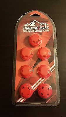 Elevation Training Mask Resistance Caps and Valves RED