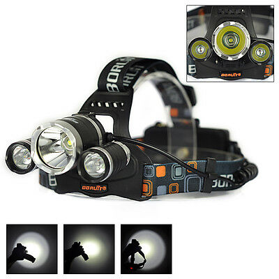 Boruit Rechargeable LED Head Torch Light with 4 Modes, 6000 lumens Waterproof