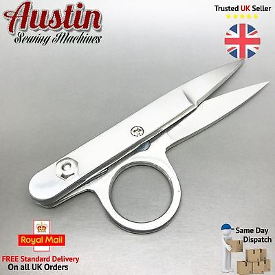 Professional Sewing Snips Yarn Scissors Spring Loaded Sharp Thread Cutters Steel