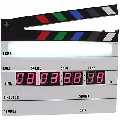 New Pro TV Movie Fully Digital Film Picture Production Slate Clapboard Sticks