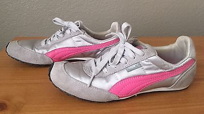 Details about Puma Women's Suede Leather Eco Ortholite Sneaker, GrayPink SIZE 9 LOOK!