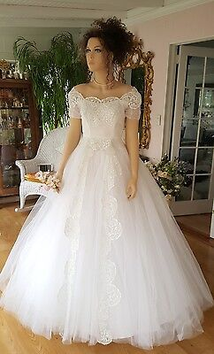 vintage wedding dresses 1950s tulle