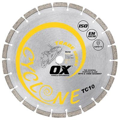 OX Trade Turbo Diamond Blade 10mm Segment OX-TC10 - 4 sizes available