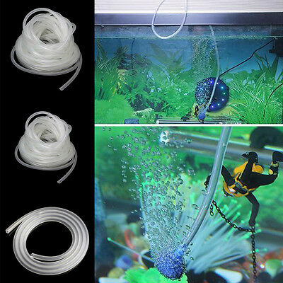 1/5/10m Clear Aquarium PVC Tube Air Pump Oxygen Tubing For Fish Tank 4/6mm