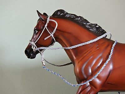 Rope Halter/Bridle Traditional sized Breyer Peter Stone with Lead Rope & Reins