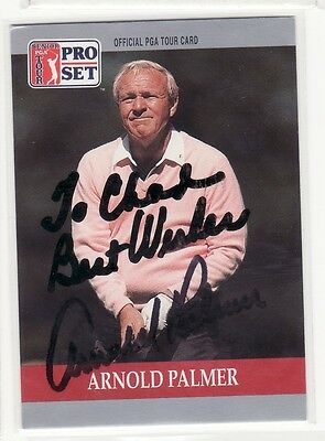 Arnold Palmer Personalized Autographed Golf Card
