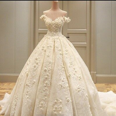 New White Ivory Wedding   Bridal Formal Dress Gown