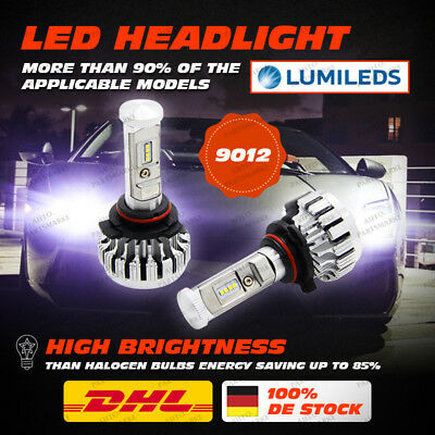 BRIDGELUX 80W 16000LM 9012 HIR2 LED Headlight Light Bulb Conversion Kit 6000K