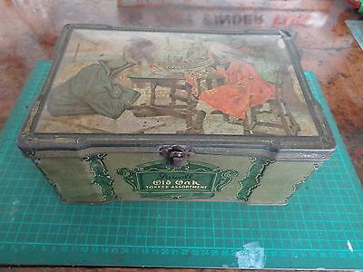 Vintage PASCALL pirate treasure chest themed toffee tin.