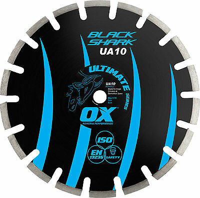 OX Ultimate Black Shark Segmented Diamond Blade - Asphalt (2 sizes available)