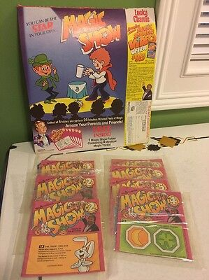 Vintage Cereal Toy Magic Show Lucky Charms Sealed Lot General Mills