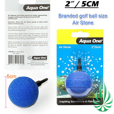 Aqua One 5cm Golf Ball Air Stone Make Oxygenated Bubbles Fish Tank Plant Grow