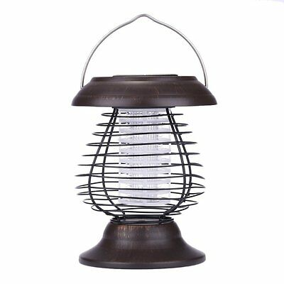 Solar Powered Insect Pest Attack UV Lamp Bug Zapper Fly Mosquito Killer Outdoor