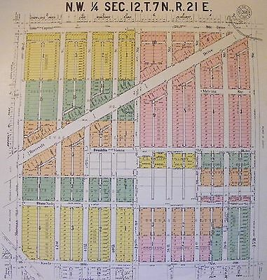 1929 Antique Milwaukee WI Wisconsin Plat Survey on Linen Nash Keefe Capitol Ave