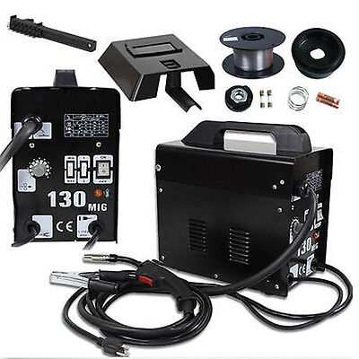 105 AMP MIG130 Flux Core Auto Feed Welding Machine Welder W/Spool Wire & Mask