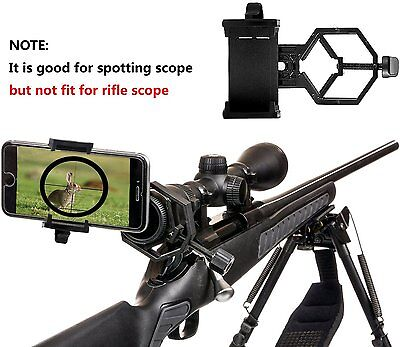 Universal Adapter Holder for Mobile Phone Spotting Scope Microscope Binocular