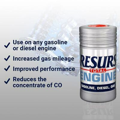 RESURS TOTAL ENGINE OIL TREATMENT For Petrol Diesel LPG Restoration Additive