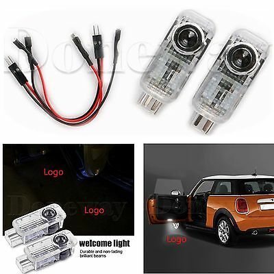 2x Car Door LED Courtesy Laser Projector Logo Ghost Shadow Light For AUDI S Line