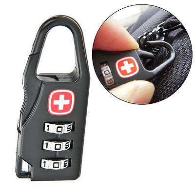 Mini Alloy 3 Dial Safe Number Code Padlock Combination Luggage Lock High FY