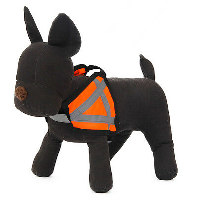 Reflective Pet Dog Harness Outdoors Safety Vest Puppy Adjustable Nylon Collar
