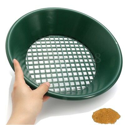 Gold Pan Panning Classifier Mesh Screen Mining Sifter Metal Detecting Green
