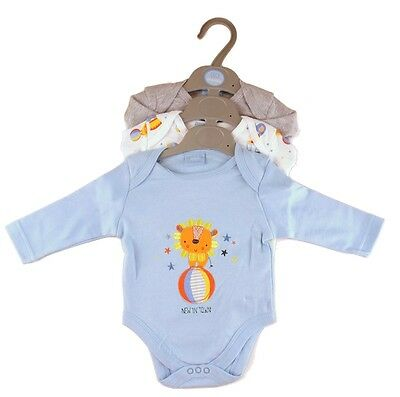 TTBC Brand new baby boy circus Triple pack of bodysuits Rock a bye 3-6 months