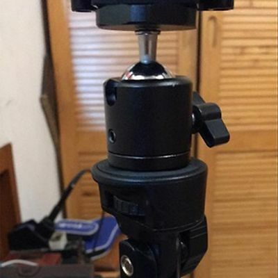 "360 Swivel Mini Ball Head Bracket Holder for 1/4"" Screw Mount Tripod DSLR Camera"