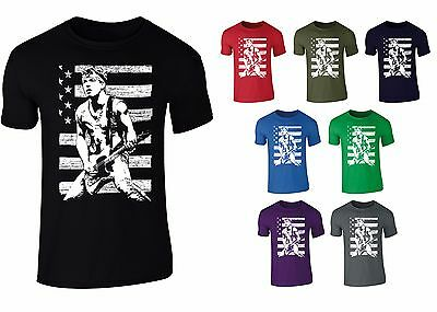 Mens Bruce Springsteen Iconic Rock T-shirt S-XXL