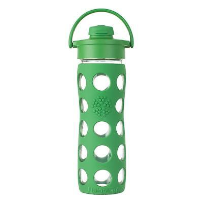 Lifefactory Borraccia in vetro Flip Cap Verde 475 ml