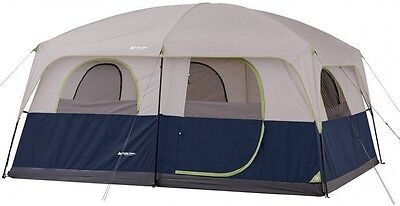 Family Cabin Tent Sleeps 10 Person 14' X 10' 2 Room Window Large Camping Outdoor