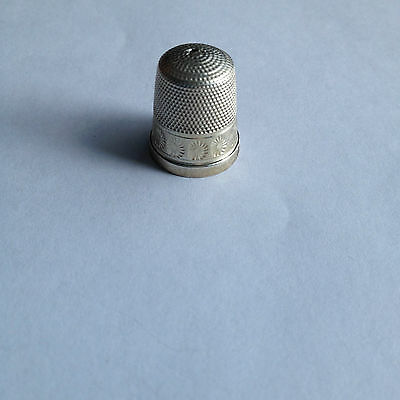 James Swan & Son Antique Sterling Thimble Size 6